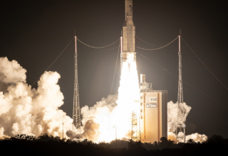 Ariane 5 pour son 100e lancement, à Kourou (Guyane) le 25 septembre 2018. — jody amiet / AFP