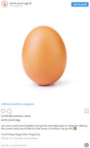 L'éclosion de l'œuf le plus liké d'Instagram a eu lieu pendant le Super Bowl. Que cachait-t-il ? dans News egg-instagram-1-183x300